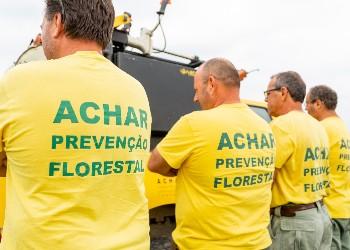 A Equipa de sapadores florestais da ACHAR está em vigilância